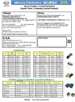 2019 Mercury Short Form Catalog